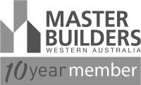10 year memebership Master Builders Western Australia